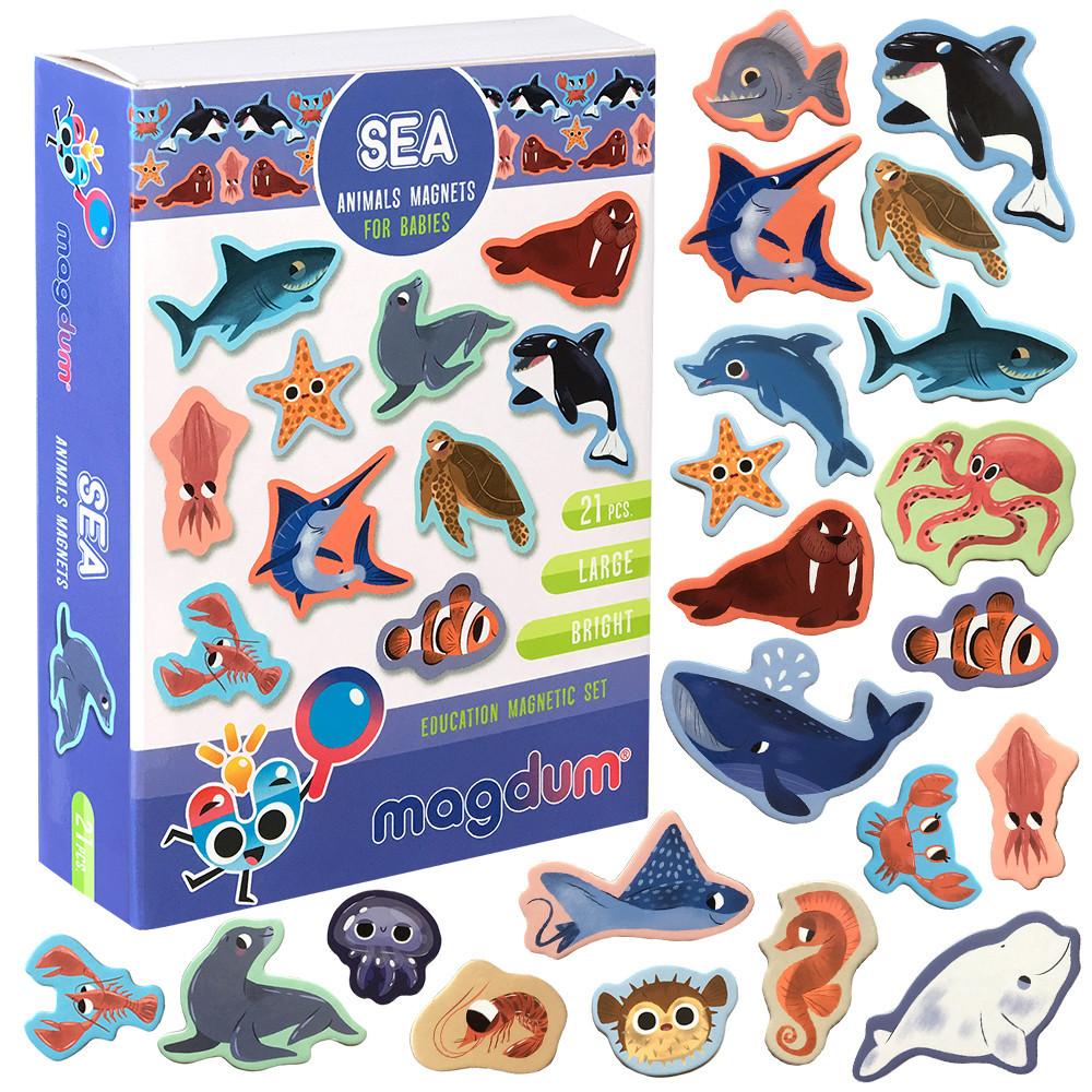 Набор детских магнитов Морские животные, Magdum (ML4031-07 EN)