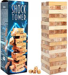 Игра Дженга с цифрами Shock Tower, Strateg (30858)