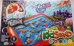 Набор кинетический песок, рыбалка магнитная, песочница (рус/укр), Danko Toys (KRKS-01-01)