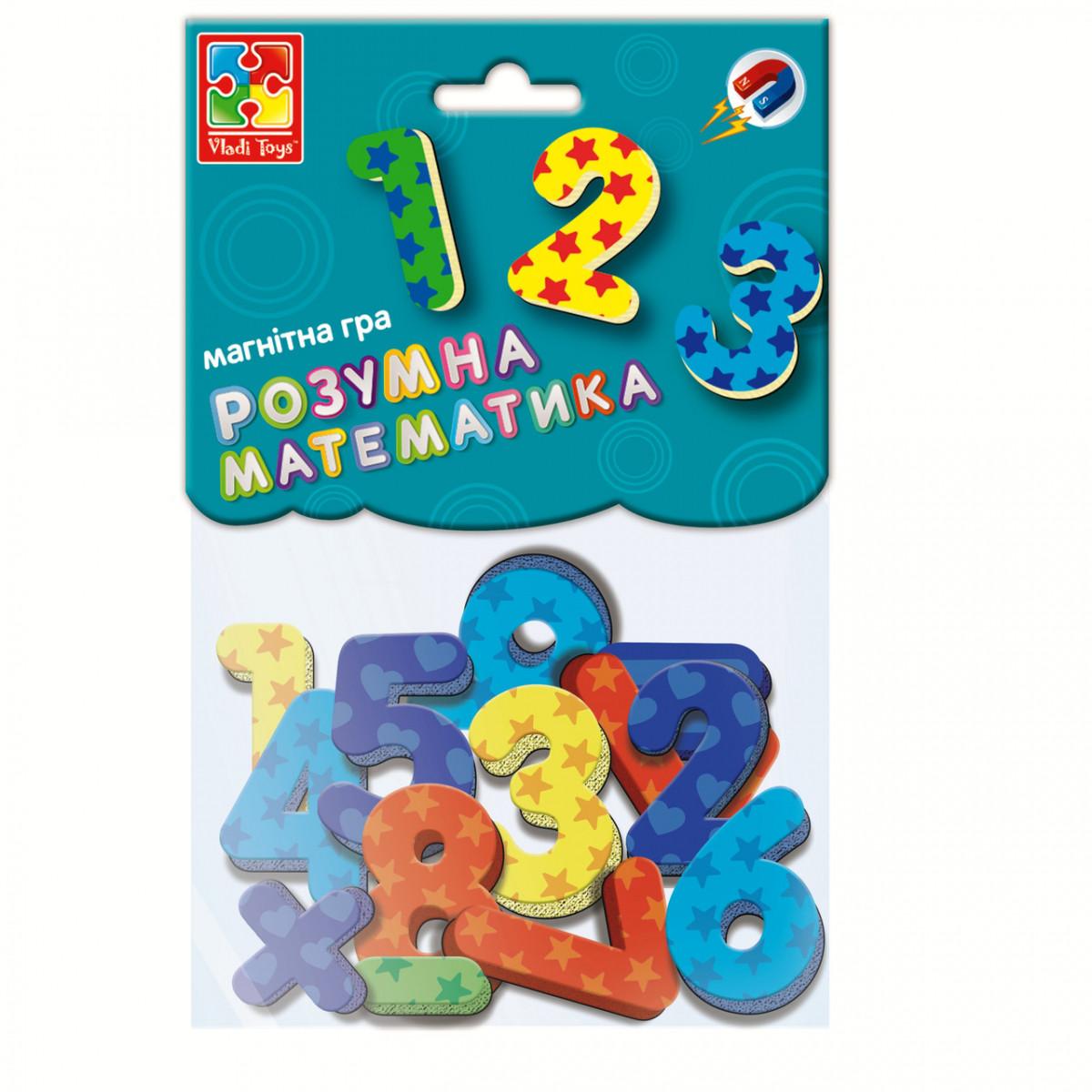 Набор Магнитные цифры и знаки (укр), Vladi Toys (VT5900-01)