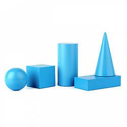 Набор объемных геометрических тел 5 шт сечение 40 мм, Komarovtoys (А 370)