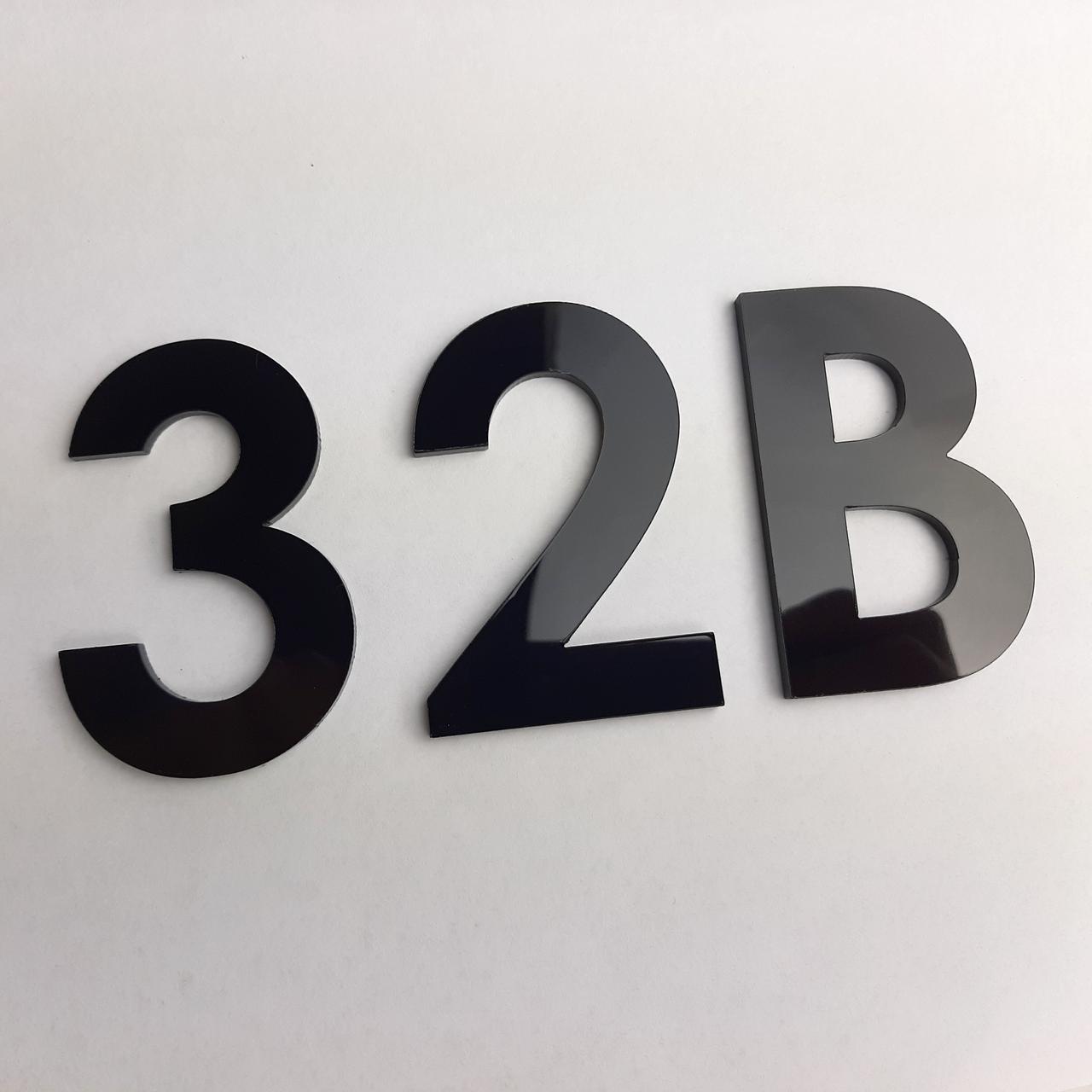 Цифри на двері з пластику