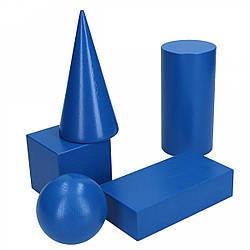 Набор объемных геометрических тел 5 шт сечение 60 мм, Komarovtoys (А 341)