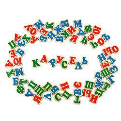 Набор Русский алфавит на магнитах 72 магнитные буквы, Komarovtoys (J 705)