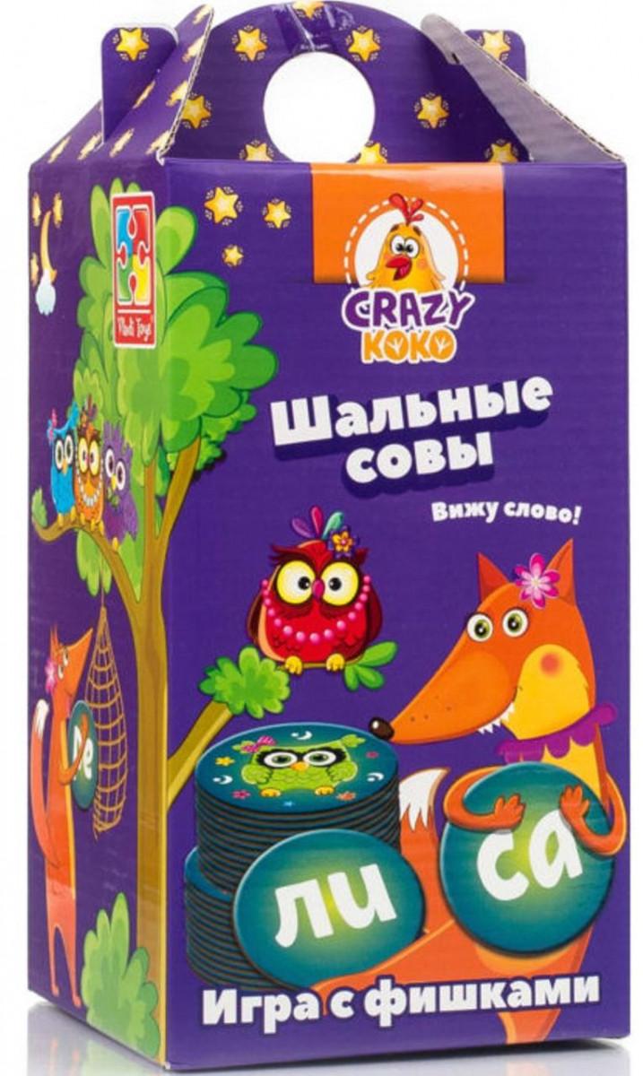 Игра с фишками Вижу слово игра Шальные совы (рус), Vladi Toys (VT8033-02)