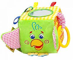 Игрушка подвеска на кроватку коляску Кубик Попугай, Macik (МС 110202-01)