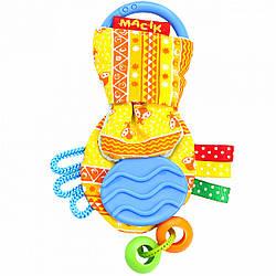Игрушка-подвеска для коляски автокресла Рыбка желтая, Macik (МС 030601-03)