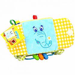 Игрушка-подвеска на коляску и кроватку Кубик Слон, Macik (МС 110202-03)