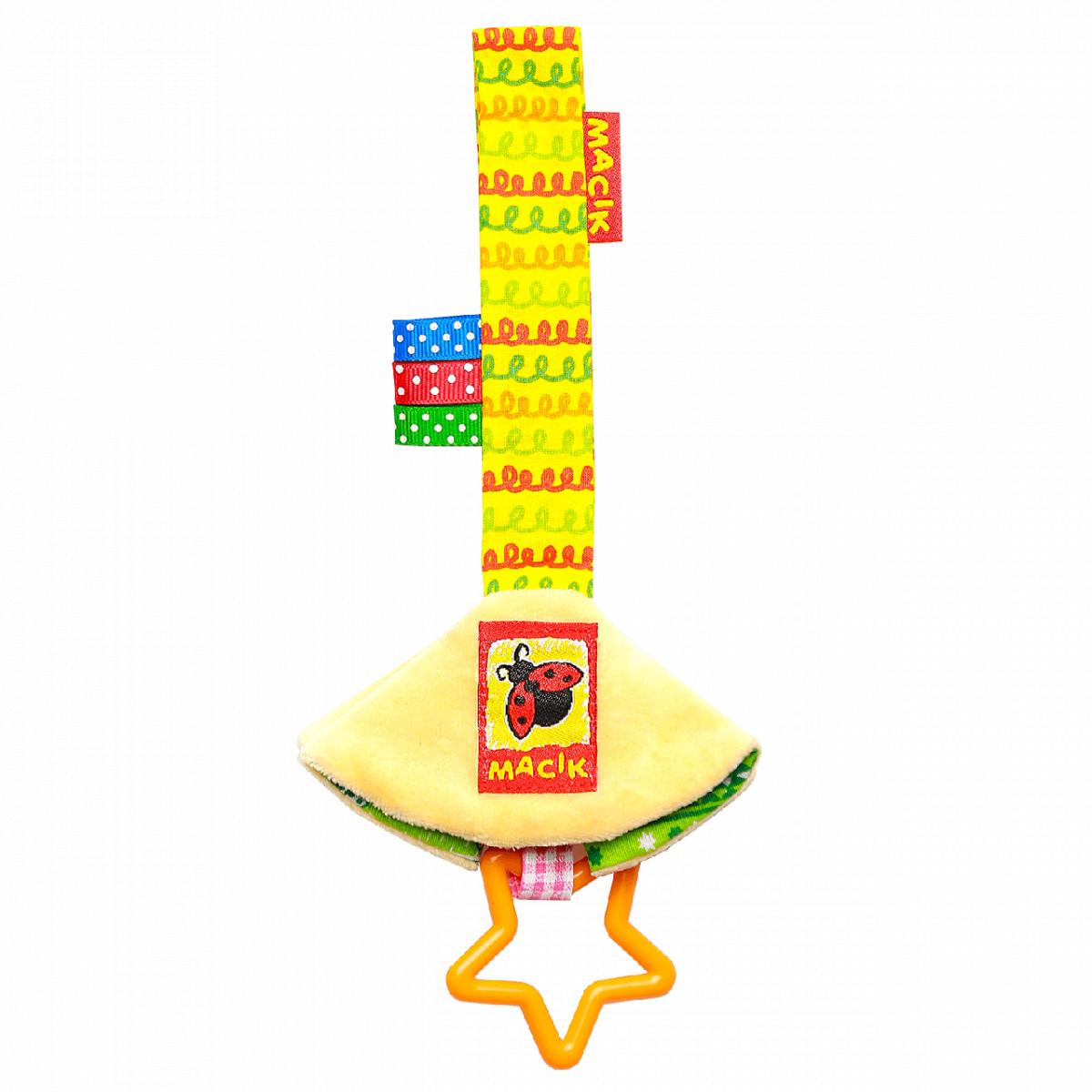 Игрушка-подвеска на липучке для кроватки коляски Платочек, Macik (МС 110603-05)