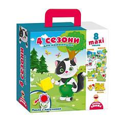 Пазлы с липучками для самых маленьких Времена года 4 сезона (укр), Vladi Toys (VT2907-04)