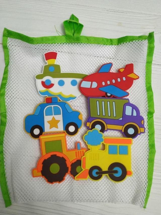 Игрушки на присосках для купания в ванной Транспорт, KinderenOK (010416)