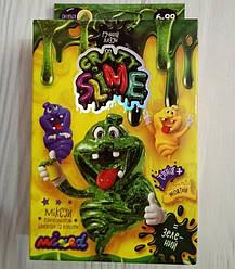 Ручной Лизун зеленый, наборы для создания слайм лизунов, Danko Toys (SLM-02-01/01U)