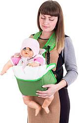 Рюкзак-кенгуру переноска для детей от 3-х месяцев зеленый, Умка (60949)