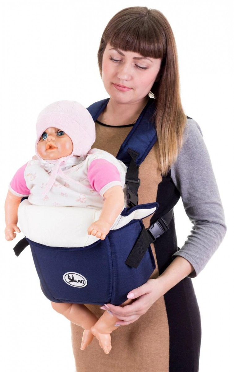 Рюкзак-кенгуру переноска для детей от 3-х месяцев Синий