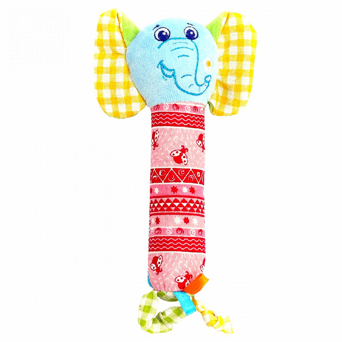 Слюновпитывающая игрушка-погремушка Слон, Macik (МС 010202-01)