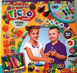 Тесто-пластилин набор 30 цветов з аксессуарами, Danko Toys (TMD-03-06)