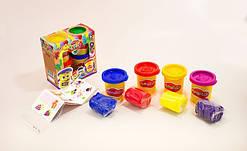 Тесто-пластилин в баночке набор 4 цвета