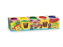 Тесто-пластилин в баночке набор 5 цветов