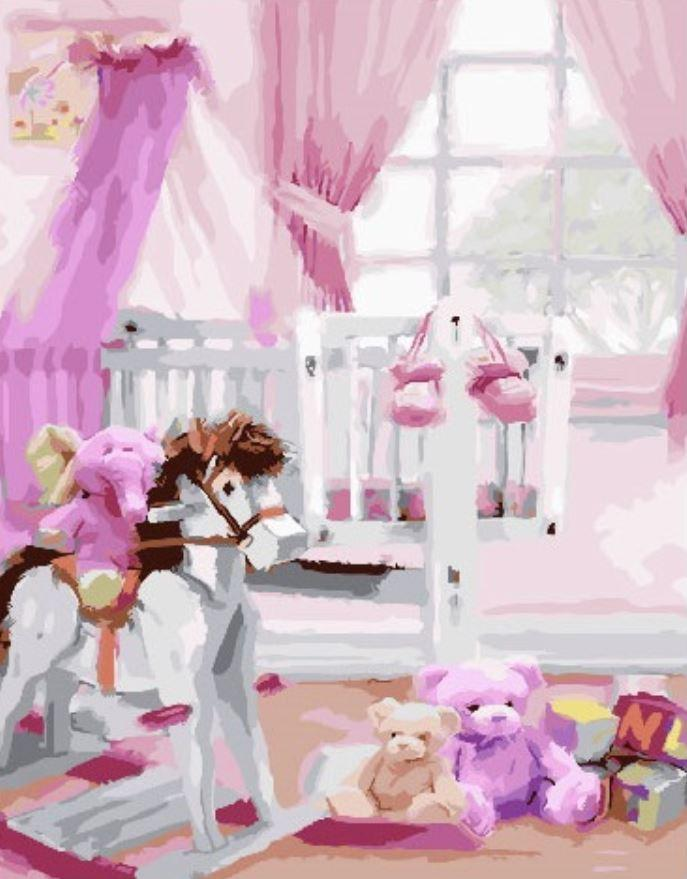 Картина по номерам Комнатка принцессы (40 х 50 см, без коробки)