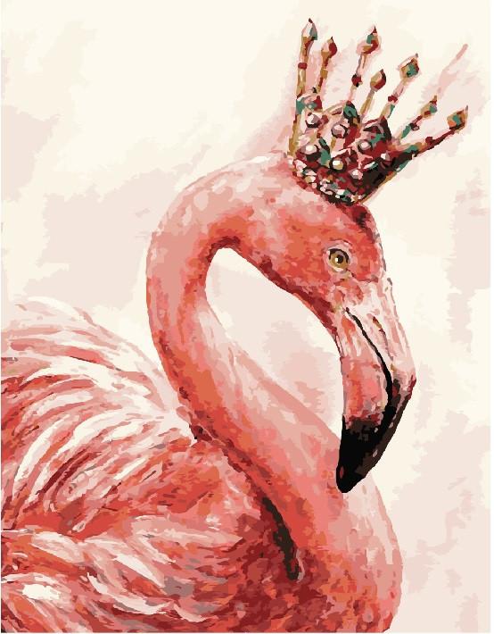 Картина по номерам Королевский фламинго (40 х 50 см, без коробки)