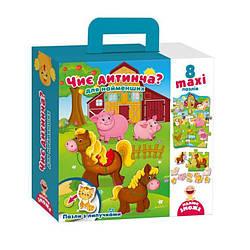 Пазлы с липучками для малышей Чей детеныш (укр), Vladi Toys (VT2907-03)