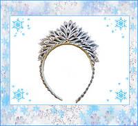 """Корона новогодняя """"Снежинка"""", ручная работа"""