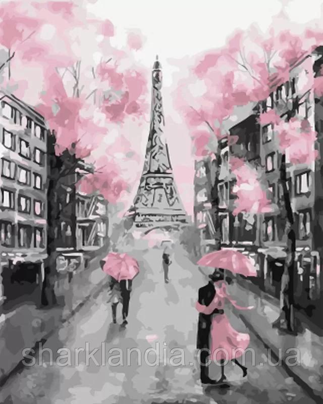 Картина по номерам Розовый Париж 40*50см Brushme GX22055