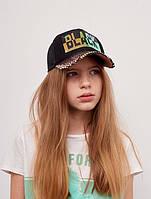 Детская подростковая кепка для девочки Елена р.52 черная Dembohouse