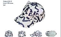 Детская подростковая  кепка для девочки David's Star белая с принтом р.48-52