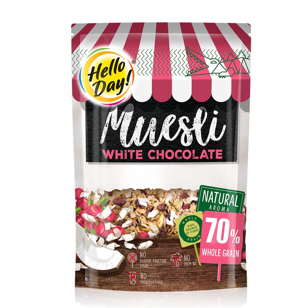 Мюслі AGUS Hello Day білий шоколад 300 г 20 шт/ящ