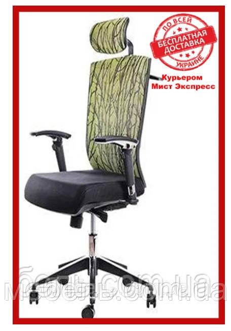 Кресло для врача Barsky G-1 ECO chair Green, сеточное кресло, зеленое