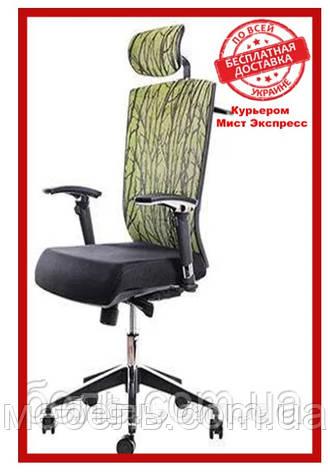 Кресло для врача Barsky G-1 ECO chair Green, сеточное кресло, зеленое, фото 2