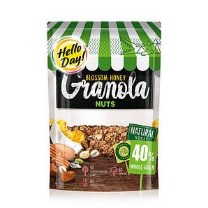 Кранчі AGUS Hello Day мед, горіхи 275г 10шт/ящ
