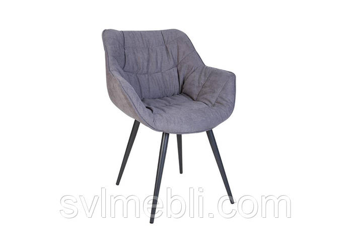 Стул VENSAN HN antr SORO-93 серый, ножки цвета антрацит, фото 2