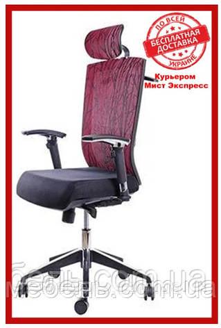 Кресло для врача Barsky G-2 ECO chair Bordo, сеточное кресло, бордовый, фото 2