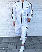 Мужской спортивный костюм в стиле Adidas белый