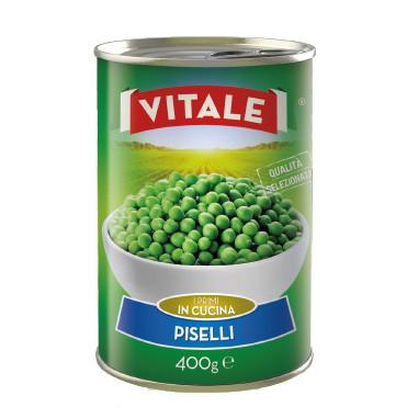 Горошок консервований VITALE Piselli  400г 24 шт/ящ