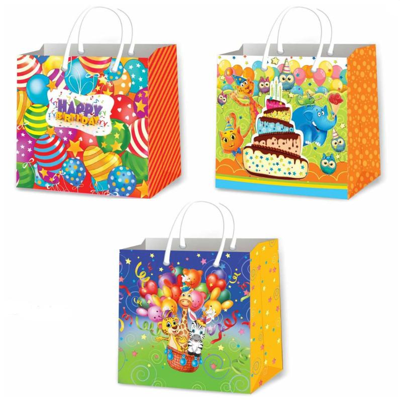 Подарочные пакеты детские размер 16х16 см (12 шт/уп ...