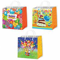 Подарочные пакеты детские размер 16х16 см (12 шт/уп)