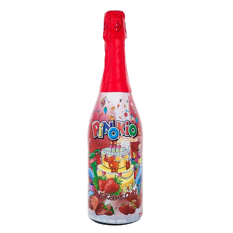 Шампанське для дітей ANNA Plus PINOKIO полуниця 0,75 л. 6 шт/ящ