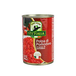 Помідори перетерті VITTORIA Polpa di Pomodoro, ж/б, 400г, 24шт/ящ