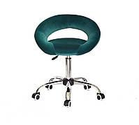 Крісло офісне на колесах Holy CH-OFFICE оксамит, зелений 1003