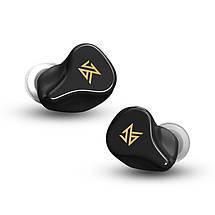 Беспроводные Bluetooth наушники KZ Z1 с кейсом для зарядки (Черный), фото 2
