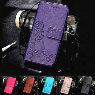 Чехол Clover для Huawei P Smart Z книжка с цветком (разные цвета)