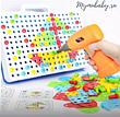 Мозаика конструктор с шуруповертом 106 деталей детский набор инструментов с мозаикой, фото 4