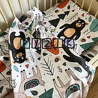 Постельный набор в детскую кроватку (3 предмета) Лесные животные