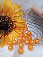 Намистинки з пластику помаранчеві, кольорові 1,3 см, 20 шт/уп, 12, фото 1