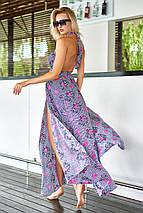 Длинное летнее штапельное платье в пол с открытой спиной (Паулина mm), фото 3
