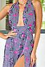 Длинное летнее штапельное платье в пол с открытой спиной (Паулина mm), фото 4