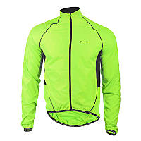 Ветровка велосипедная Nuckily MJ004 Fluorescent Green M куртка осень весна